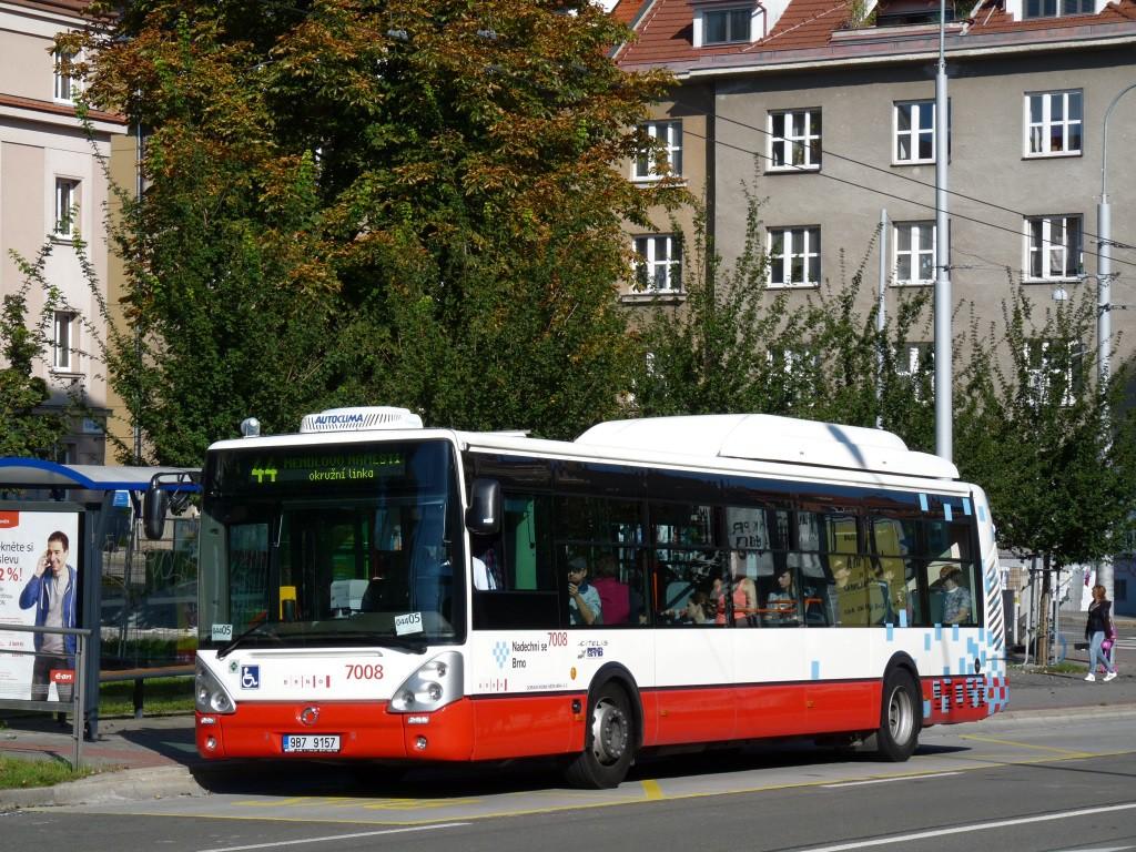 Fotogalerie » Irisbus Citelis 12M CNG 9B7 9157 7008 | Brno | Královo Pole | Královopolská | Skácelova