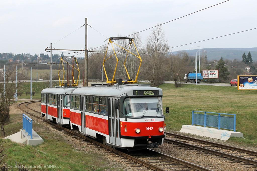 Fotogalerie » ČKD Tatra T3G 1643 | ČKD Tatra T3G 1644 | Brno | Bystrc