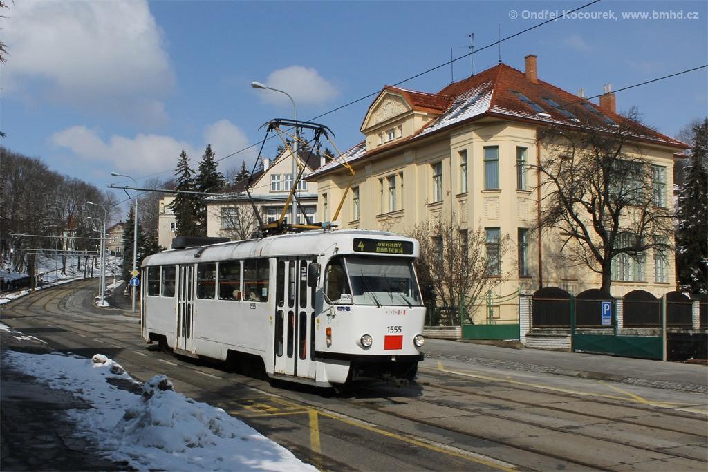 Fotogalerie » ČKD Tatra T3M 1555 | Brno | střed | Údolní