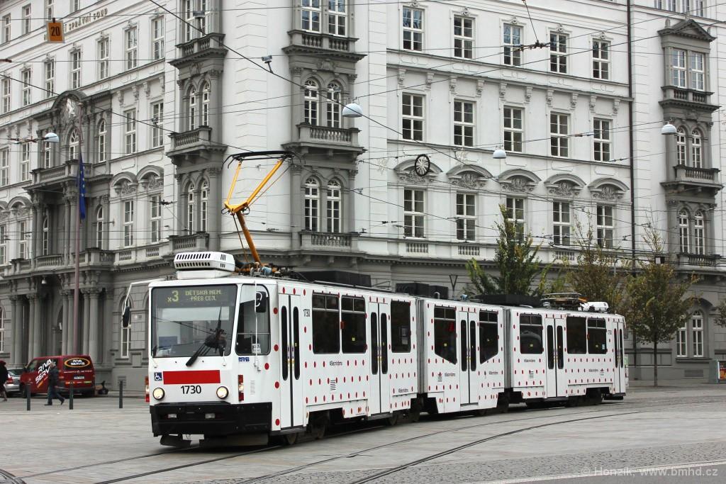 Fotogalerie » ČKD Tatra KT8D5N 1730 | Brno | střed | Moravské náměstí