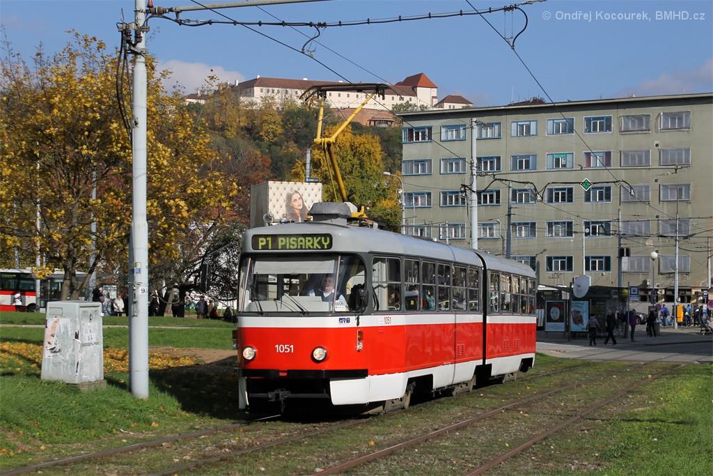 Fotogalerie » ČKD Tatra K2P 1051 | Brno | Staré Brno | Veletržní