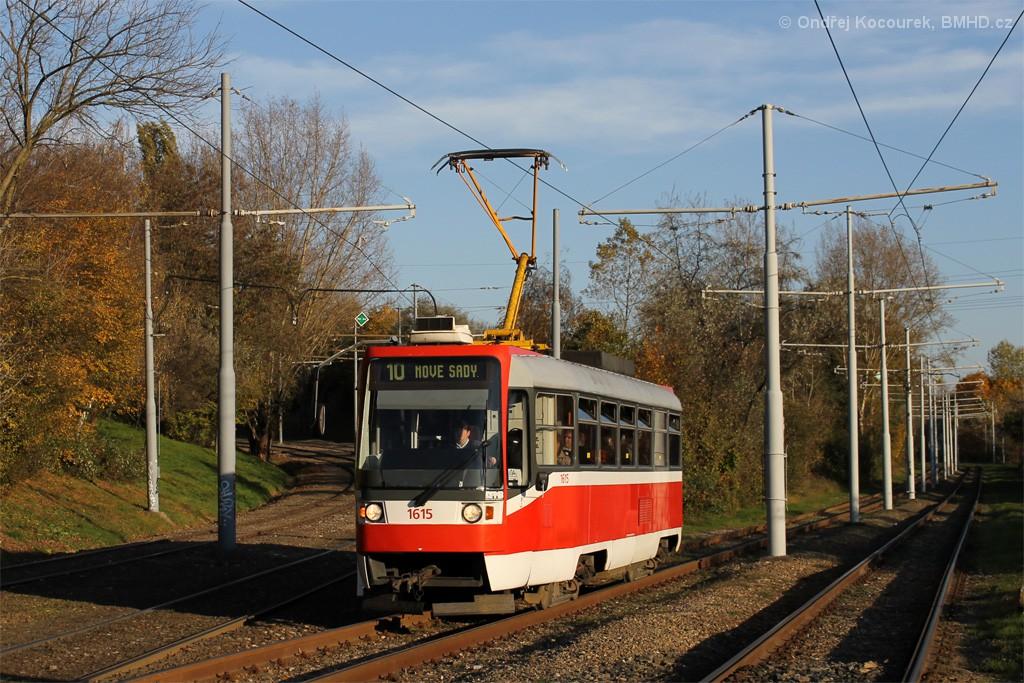 Fotogalerie » ČKD Tatra T3R 1615 | Brno | Židenice | Ostravská