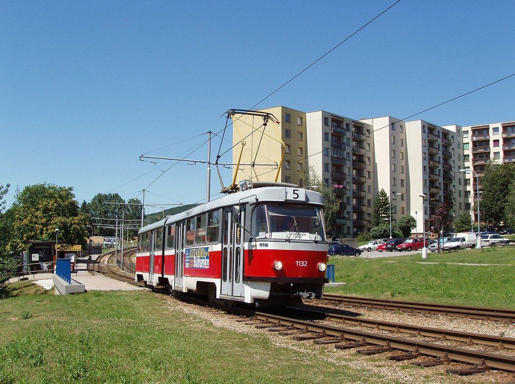 Fotogalerie » ČKD Tatra K2YU 1132 | Brno | Starý Lískovec | Dunajská