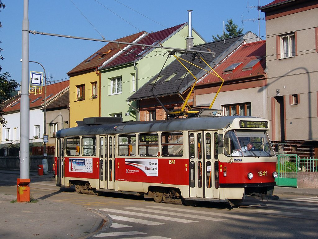 Fotogalerie » ČKD Tatra T3M 1541 | Brno | Maloměřice | Obřanská | Obřanský most