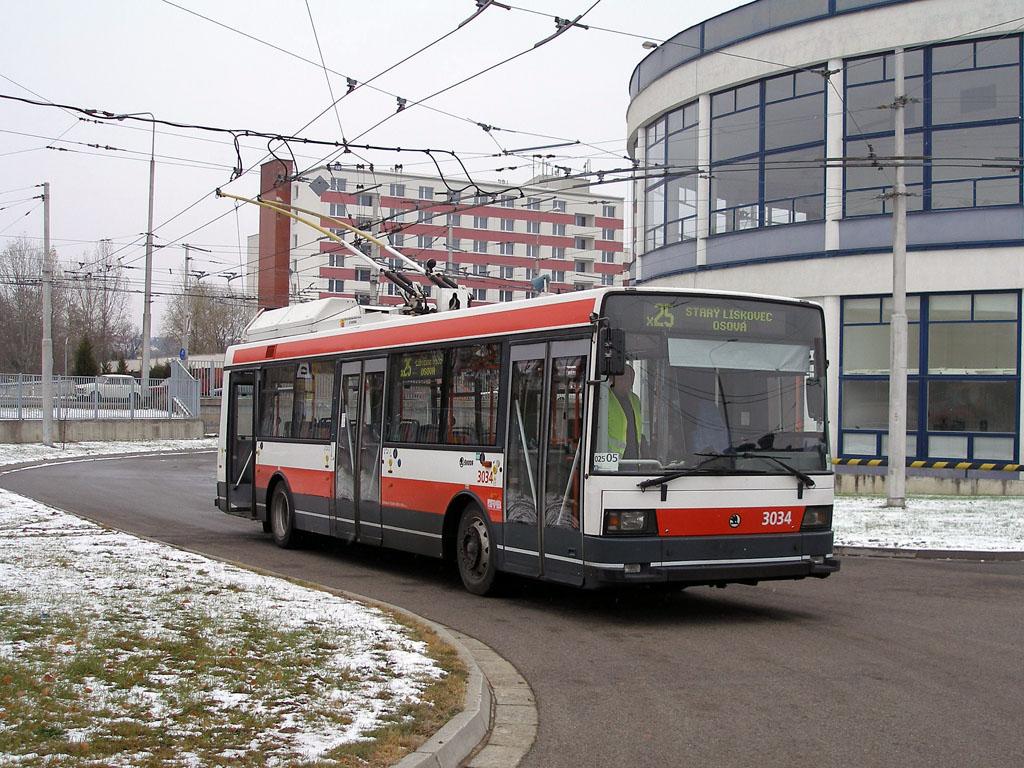 Fotogalerie » Škoda 21Tr 3034   Brno   Komín   vozovna Komín