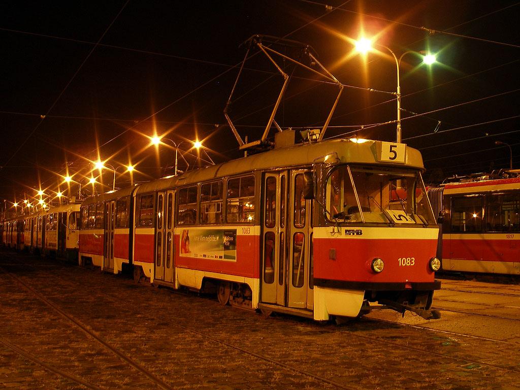 Fotogalerie » ČKD Tatra K2 1083 | Brno | Pisárky | Vozovna Pisárky