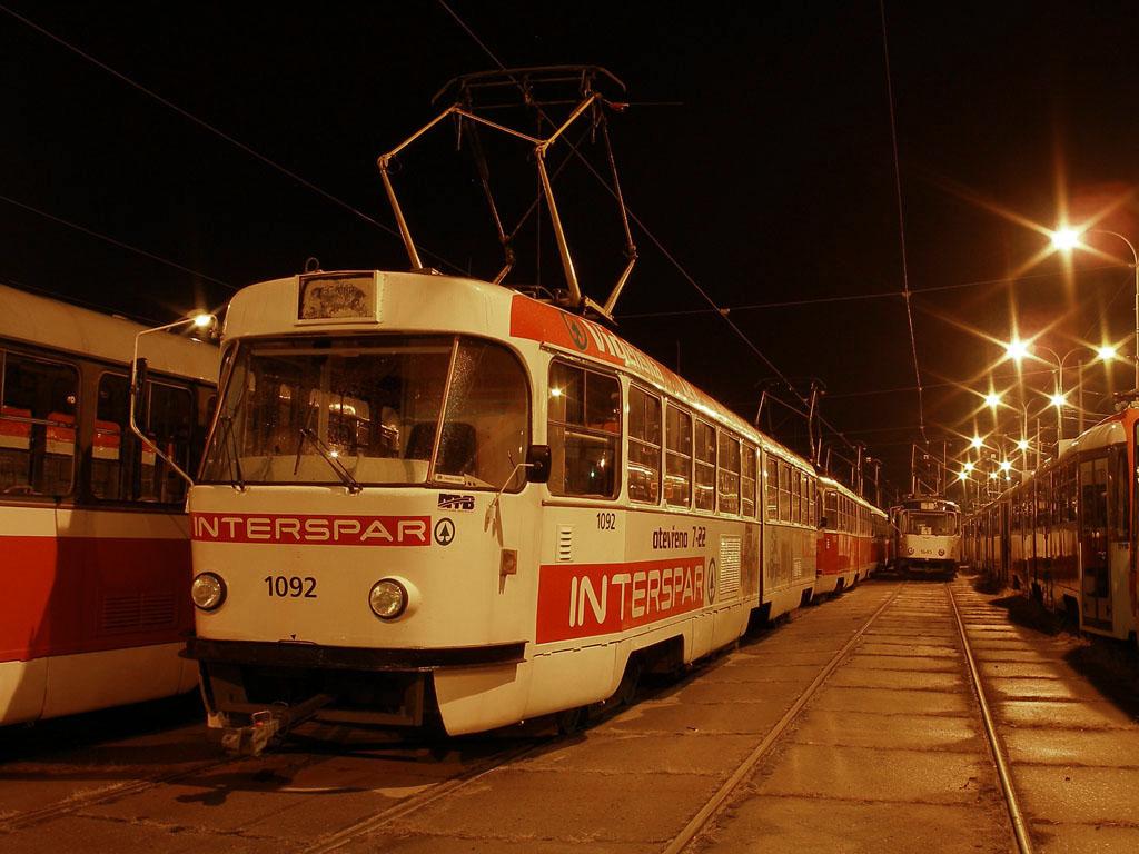 Fotogalerie » ČKD Tatra K2 1092 | Brno | Pisárky | Vozovna Pisárky