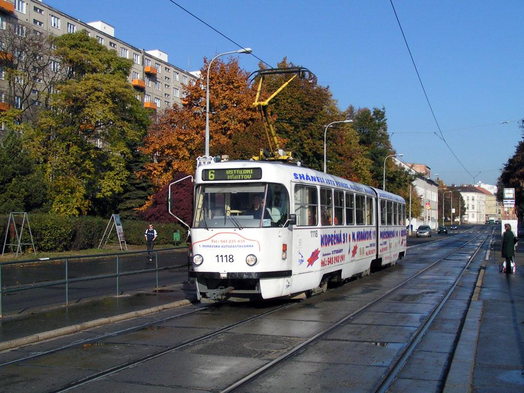 Fotogalerie » ČKD Tatra K2YU 1118   Brno   Štýřice   Vídeňská