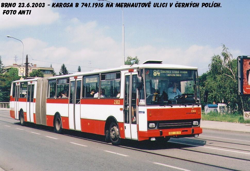 Fotogalerie » Karosa B741.1916 2302 | Brno | Černá Pole | Merhautova
