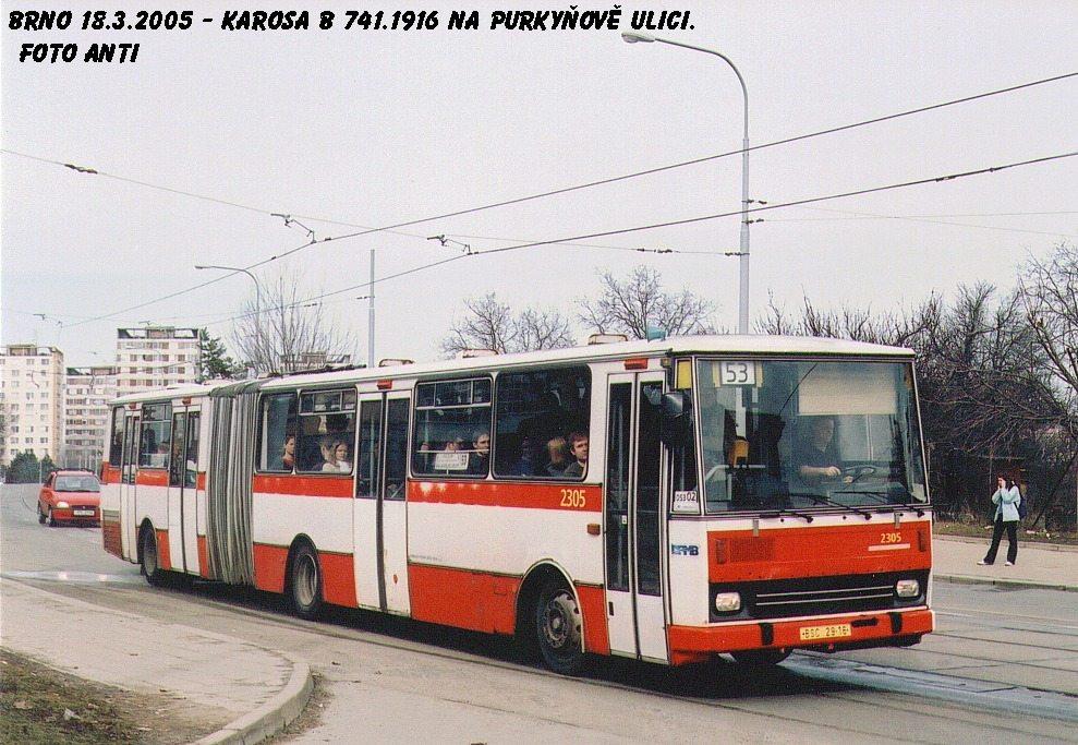 Fotogalerie » Karosa B741.1916 2305   Brno   Královo Pole   Purkyňova