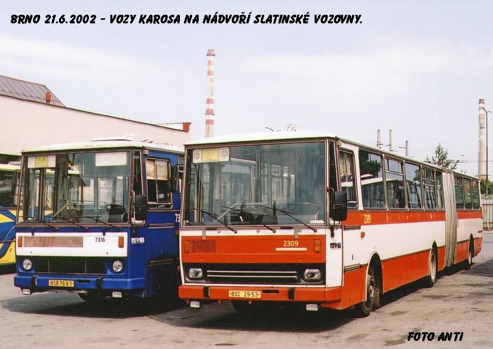 Fotogalerie » Karosa B741.1916 2309 | Karosa B732.1652 7316 | Brno | Vozovna Slatina
