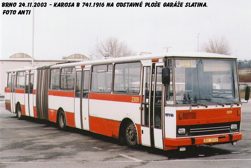 Fotogalerie » Karosa B741.1916 2309 | Brno | Vozovna Slatina