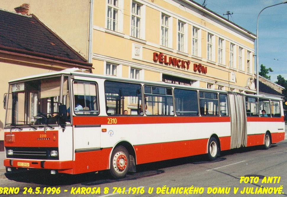 Fotogalerie » Karosa B741.1916 2310   Brno   Židenice   Jamborova