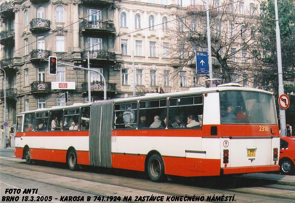 Fotogalerie » Karosa B741.1924 2318 | Brno | Veveří | Veveří | Konečného náměstí