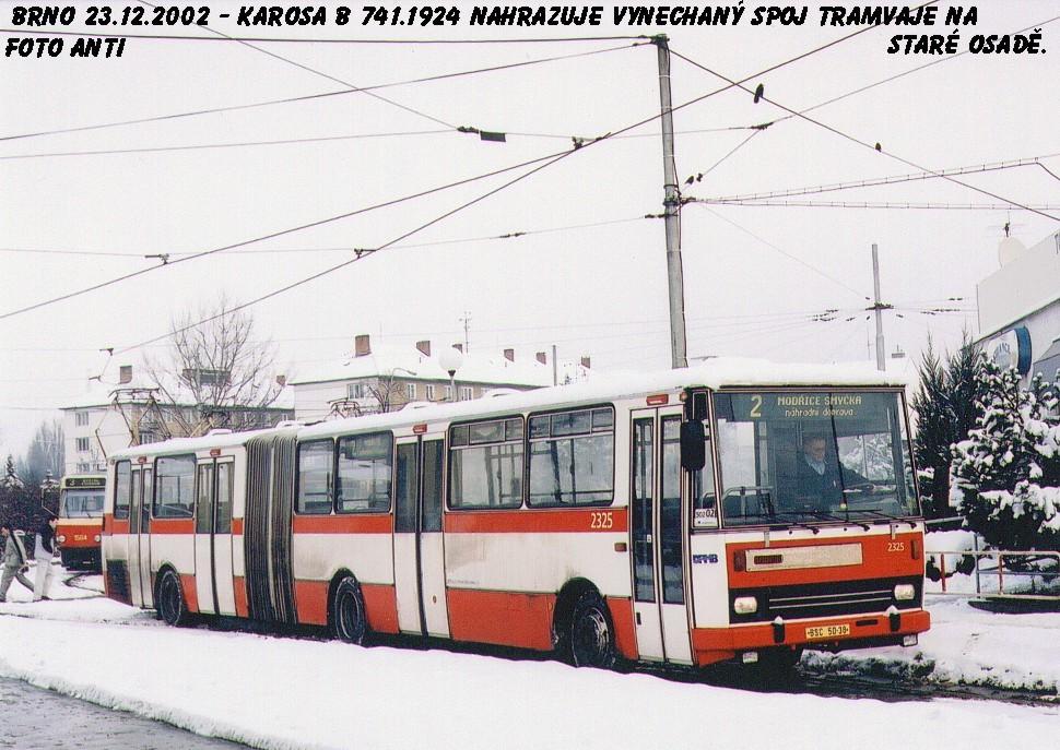 Fotogalerie » Karosa B741.1924 2325 | Brno | Židenice | Stará Osada, smyčka