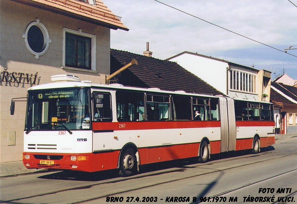 Fotogalerie » Karosa B961.1970 2367 | Brno | Židenice | Táborská