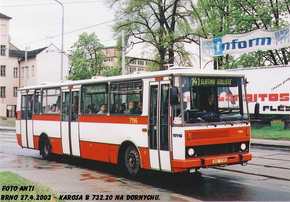 Fotogalerie » Karosa B732.20 7196 | Brno | Trnitá | Dornych