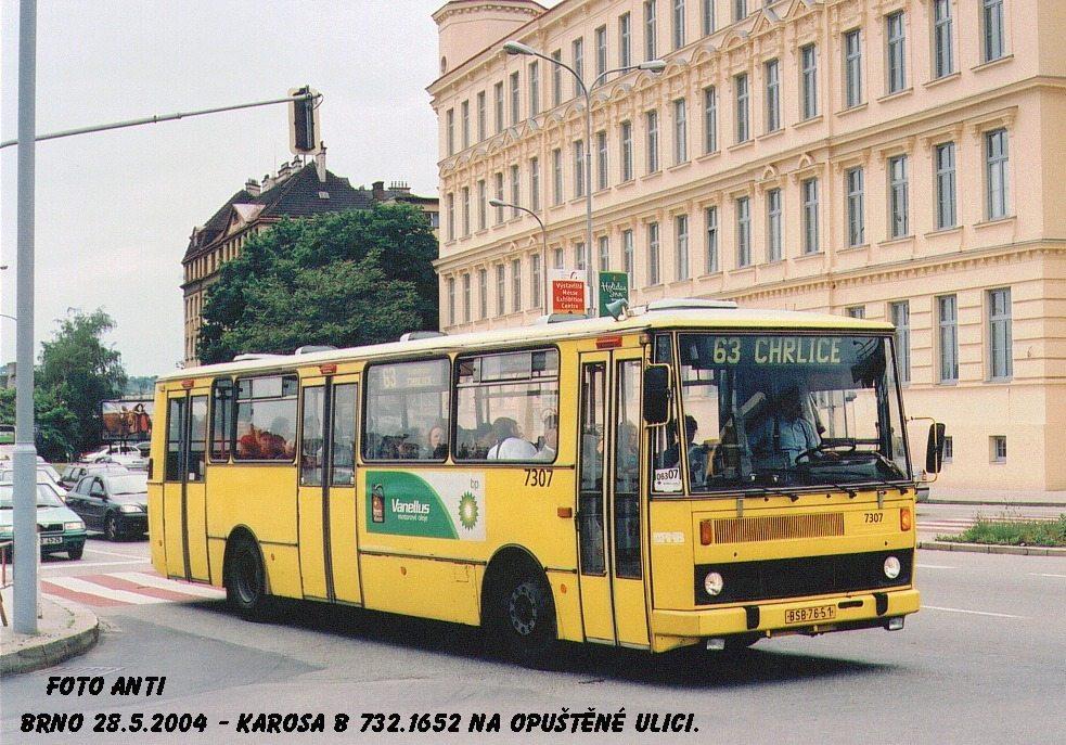 Fotogalerie » Karosa B732.1652 7307 | Brno | Trnitá | Opuštěná