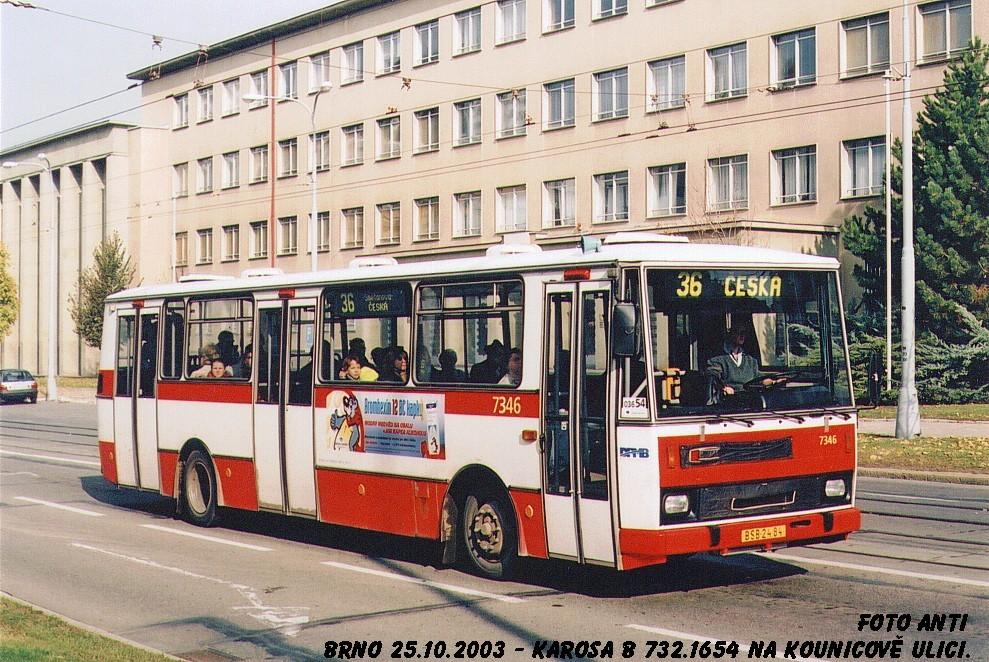 Fotogalerie » Karosa B732.1654 7346 | Brno | Veveří | Kounicova