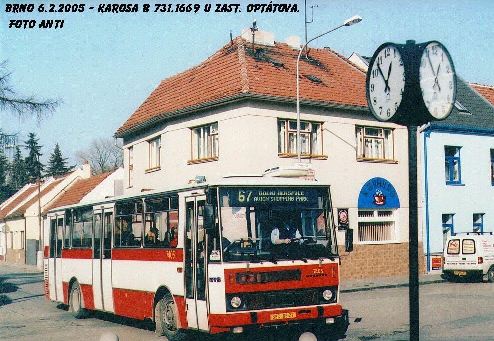 Fotogalerie » Karosa B731.1669 7405 | Brno | Jundrov | Optátova
