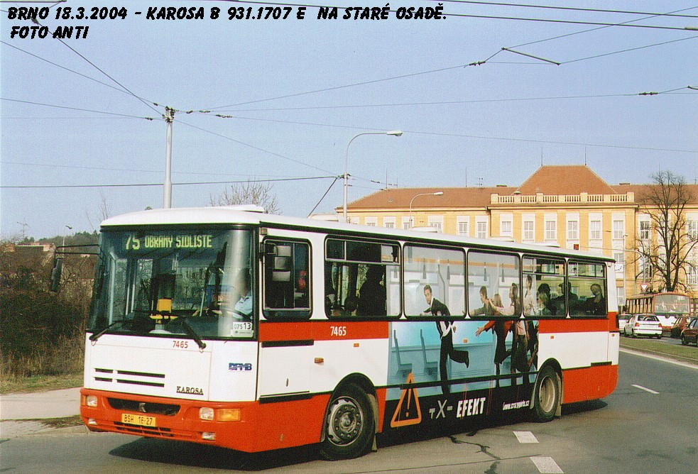 Fotogalerie » Karosa B931E.1707 7465 | Brno | Židenice | Bubeníčkova