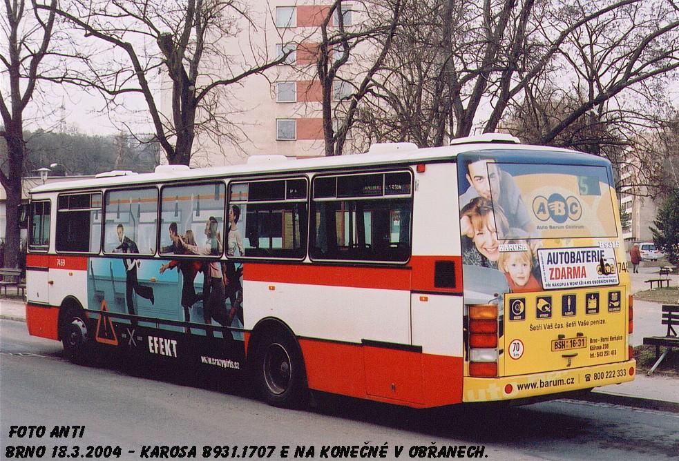 Fotogalerie » Karosa B931E.1707 7469 | Brno | Obřany | Fryčajova | Obřany, sídliště