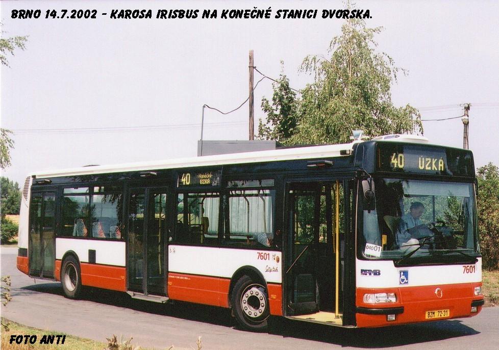 Fotogalerie » Irisbus Citybus 12M 2071.20 7601 | Brno | Dvorska | Zapletalova | Dvorska, smyčka