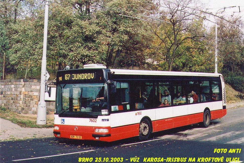 Fotogalerie » Irisbus Citybus 12M 2071.20 7602 | Brno | Žabovřesky | Kroftova