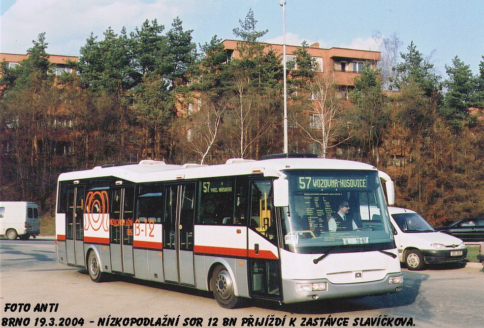 Fotogalerie » SOR BN 12 H 19-87 | Brno | Lesná | Okružní