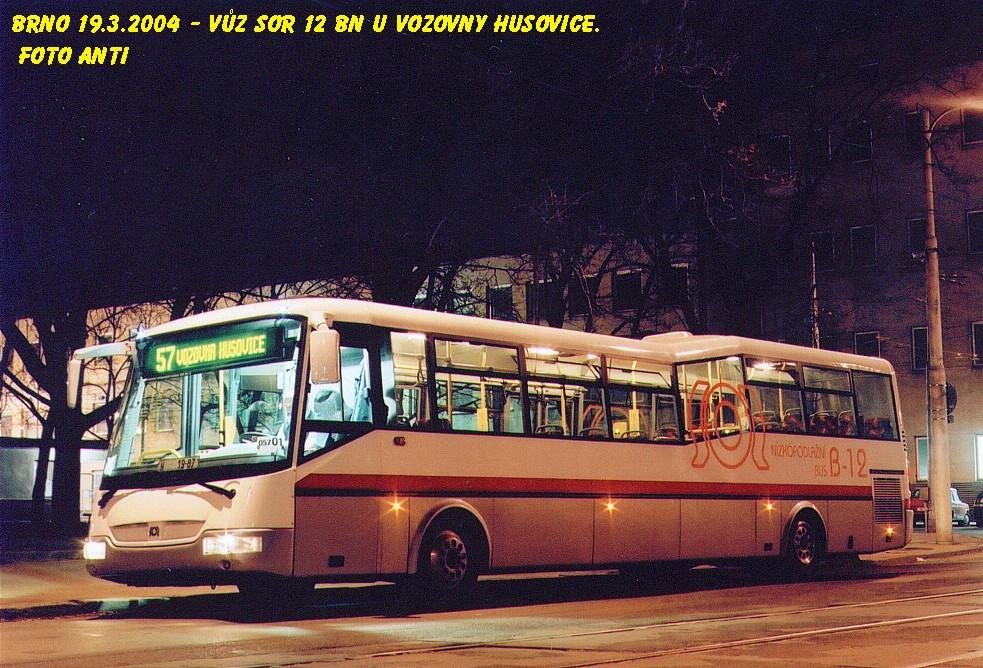 Fotogalerie » SOR BN 12 H 19-87 | Brno | Husovice | Nováčkova | Vozovna Husovice
