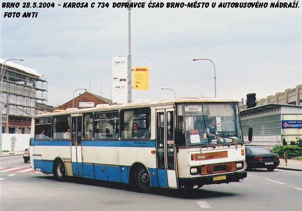 Fotogalerie » Karosa C734 BSB 45-67   Brno   Trnitá   Zvonařka