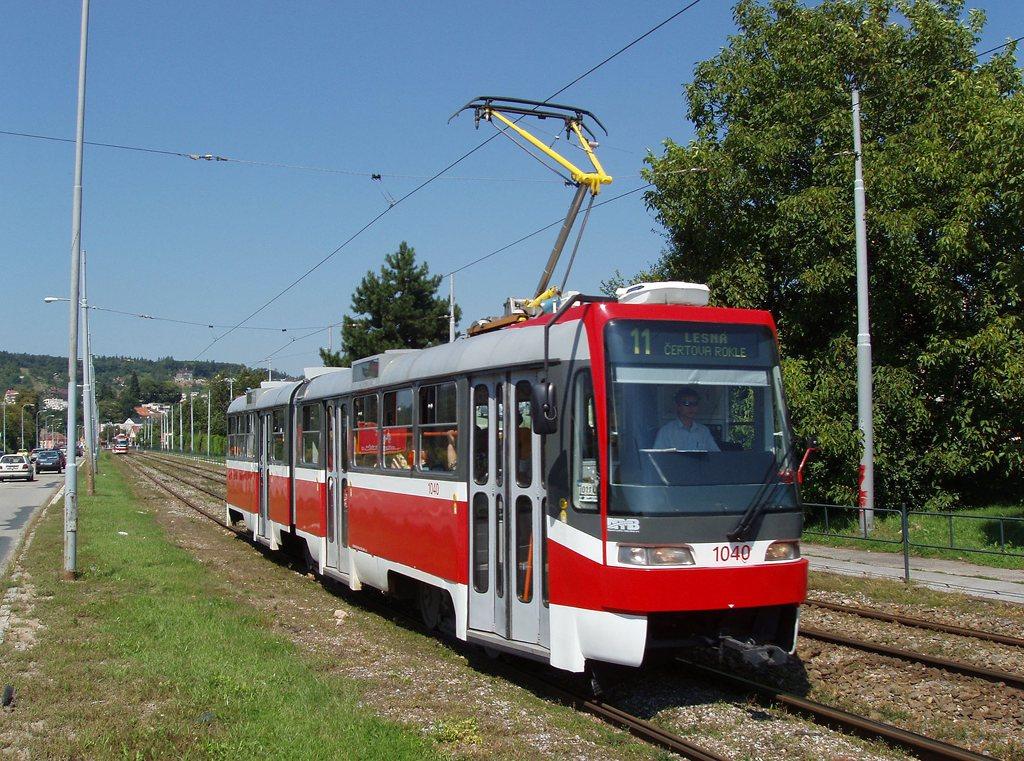 Fotogalerie » ČKD Tatra K2R03-P 1040 | Brno | Komín | Kníničská