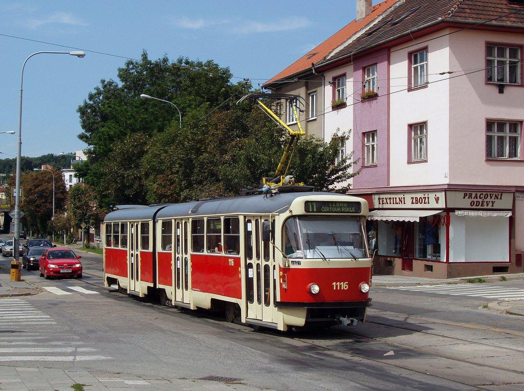 Fotogalerie » ČKD Tatra K2P 1116 | Brno | Žabovřesky | Burianovo náměstí | Burianovo náměstí