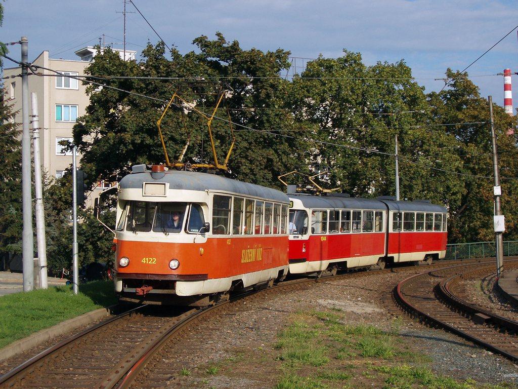 Fotogalerie » Tatra T2 služební 4122   ČKD Tatra K2T 1044   Brno   Staré Brno   Výstaviště