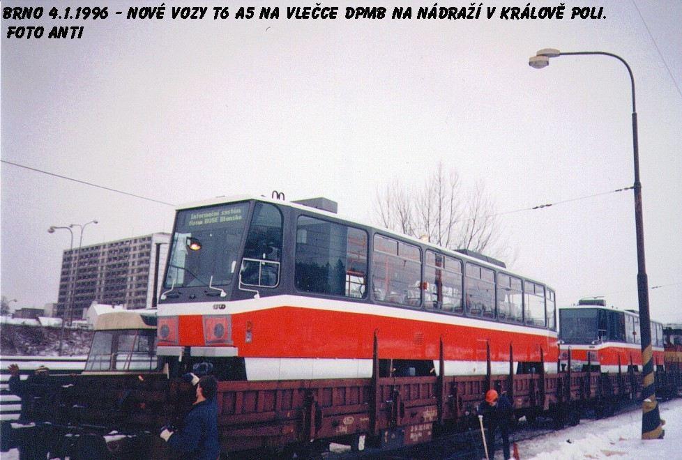 Fotogalerie » ČKD DS T6A5 | Brno | Královo Pole | Vlečka DP v Králově Poli