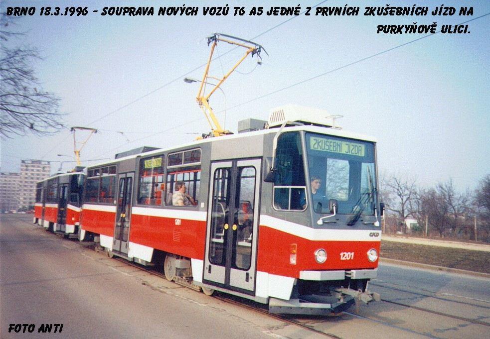 Fotogalerie » ČKD DS T6A5 1201   ČKD DS T6A5 1202   Brno   Královo Pole   Purkyňova