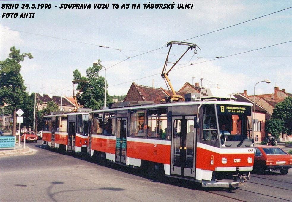Fotogalerie » ČKD DS T6A5 1201 | ČKD DS T6A5 1202 | Brno | Židenice | Táborská