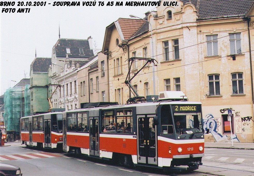 Fotogalerie » ČKD DS T6A5 1213   ČKD DS T6A5 1214   Brno   Černá Pole   Merhautova   Dětská nemocnice