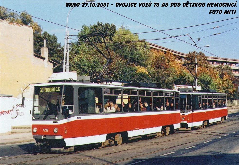 Fotogalerie » ČKD DS T6A5 1219 | ČKD DS T6A5 1220 | Brno | střed | Milady Horákové