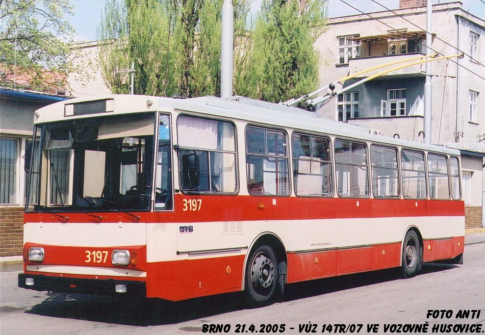 Fotogalerie » Škoda 14Tr07 3197 | Brno | Vozovna Husovice
