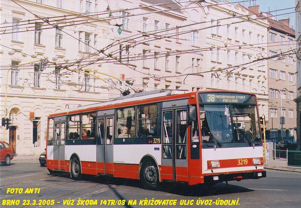 Fotogalerie » Škoda 14TrR 3219 | Brno | Veveří | Údolní