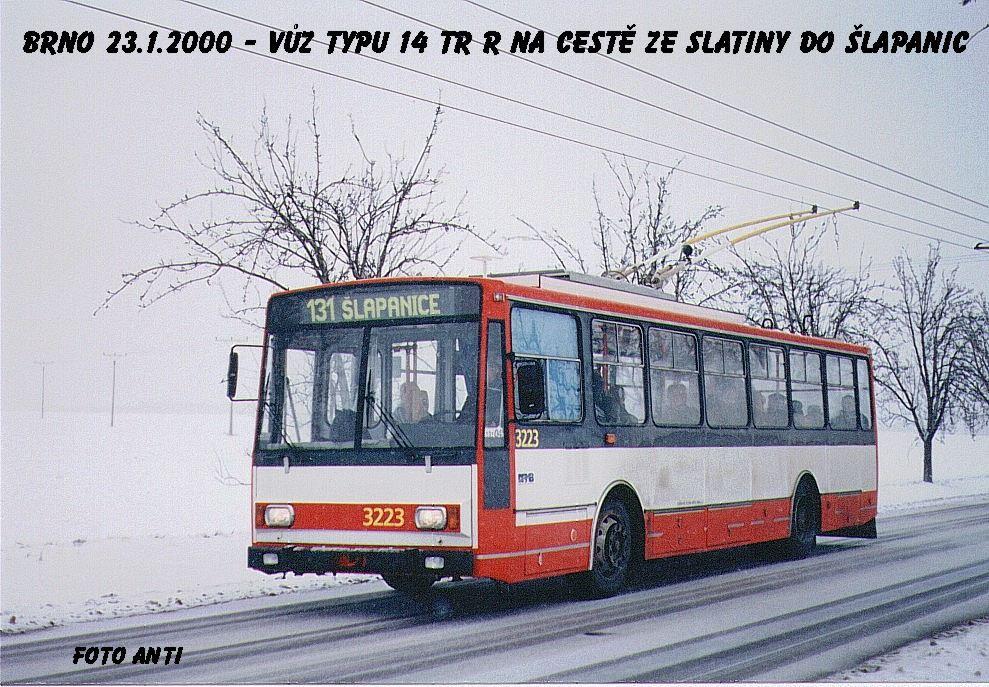 Fotogalerie » Škoda 14TrR 3223 | Šlapanice | Brněnská