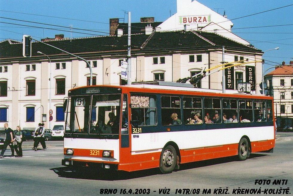 Fotogalerie » Škoda 14Tr08/6 3231   Brno   střed   Koliště