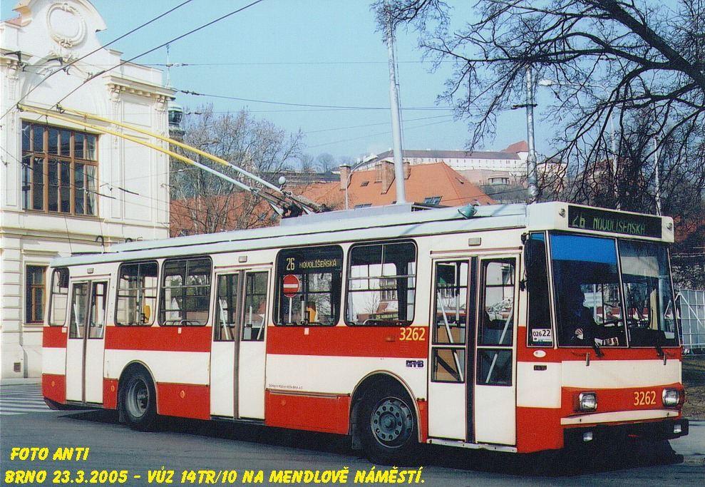 Fotogalerie » Škoda 14Tr14 3262 | Brno | Staré Brno | Mendlovo náměstí