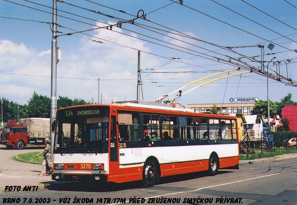 Fotogalerie » Škoda 14Tr17/6M 3270   Brno   Žabovřesky   Přívrat