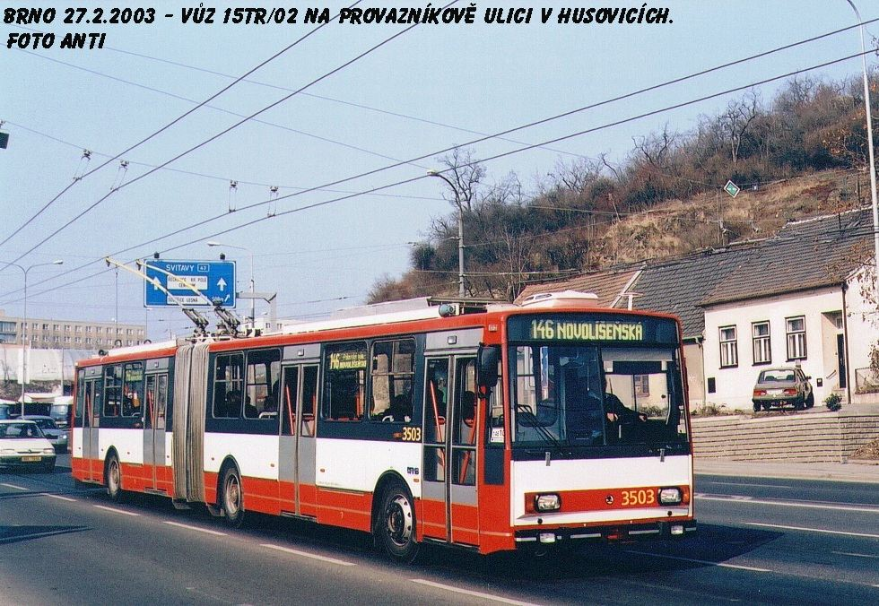 Fotogalerie » Škoda 15TrM 3503 | Brno | Husovice | Provazníkova