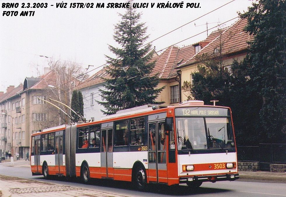 Fotogalerie » Škoda 15TrM 3503 | Brno | Královo Pole | Srbská