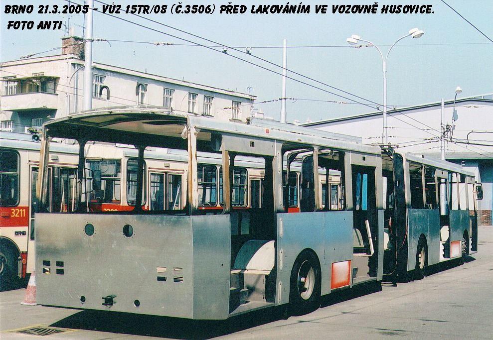 Fotogalerie » Škoda 15TrM 3506 | Brno | Vozovna Husovice