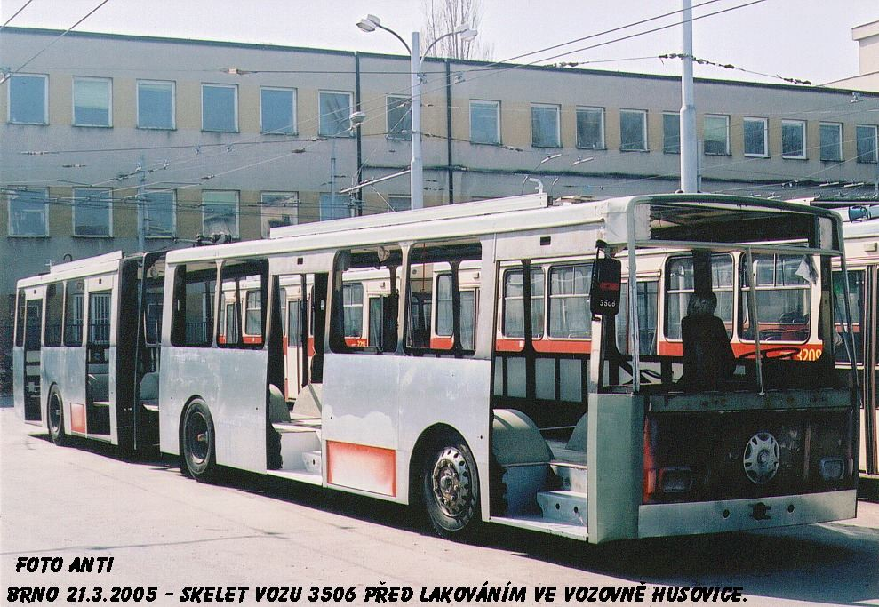 Fotogalerie » Škoda 15TrM 3506   Brno   Vozovna Husovice