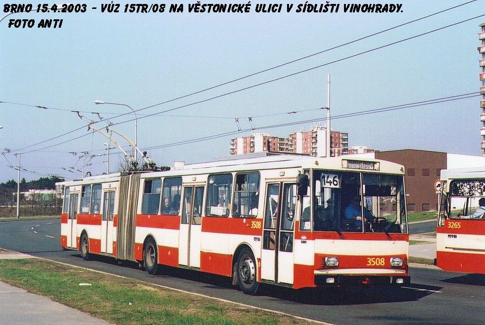 Fotogalerie » Škoda 15Tr08 3508 | Brno | Vinohrady | Věstonická